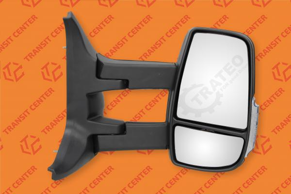 Mirror right long arm Ford Transit 2014 electric 6 pin Trateo new