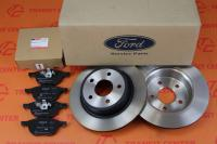 Brake discs and pads Ford Connect 2013 rear 17 new