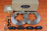 Brake discs and pads Ford Transit 2014 rear RWD