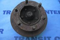 "Front right spindle with hub single wheel 15"" transit 1991-2000 used"